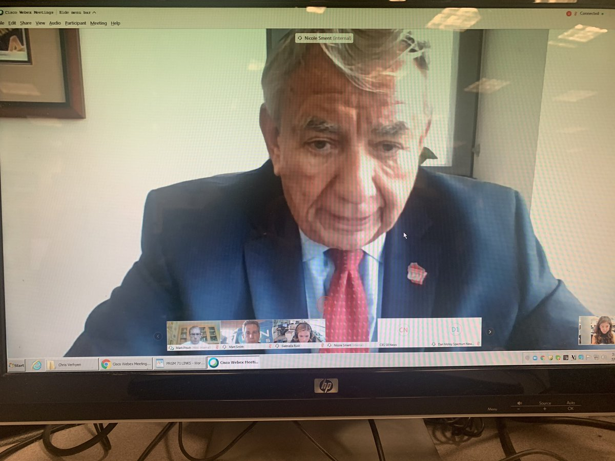 """Currently chatting w/UW system interim president Tommy Thompson - says masks are and will be absolutely mandatory on all UW system campuses.   As for football, he says 1st priority is safety of all students. He's treating it as a """"wait and see"""" situation.  #Badgers #OnWisconsin https://t.co/rnCFNgnoGz"""