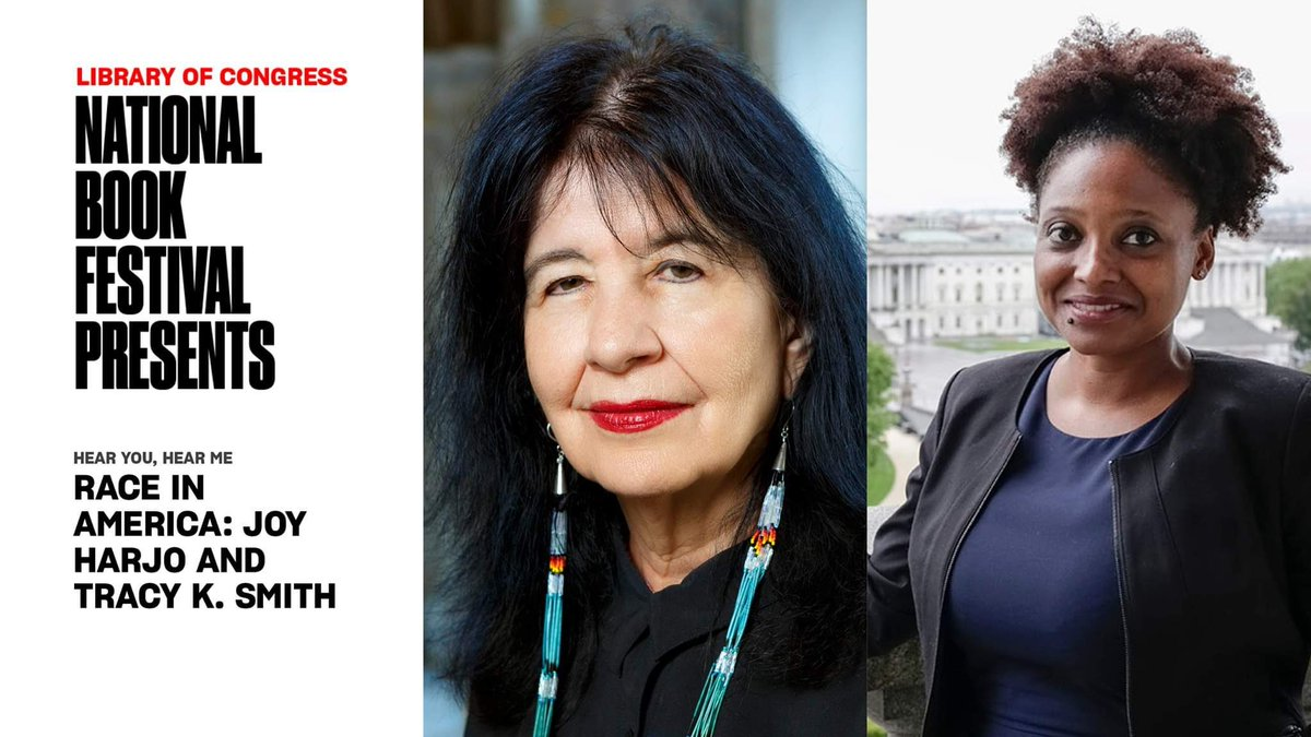 TONIGHT! Hope you can join me for a special conversation with Poet Laureate Joy Harjo and Tracy K. Smith on the role of poetry and its enduring power to promote social justice. 7pm on the @librarycongress Facebook & YouTube pages. https://t.co/rfgBvEG8TW https://t.co/xMRLPhcSel