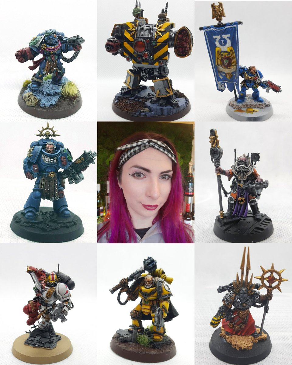 I really need to actually finish some more stuff... but here's at least some idea of me and my hobby stuff #warmongers #warhammer40k #facesbehindthehobby https://t.co/6K5Qrj7t14 https://t.co/XC2qSjIv5b