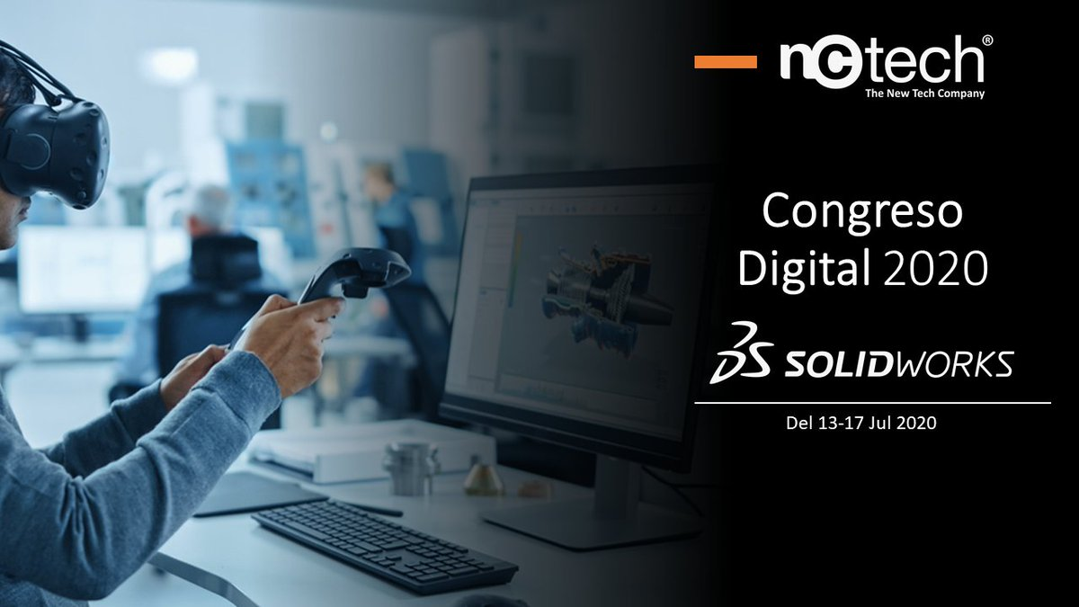 "Registrate e ingresa del 13 al 17 de Julio al Congreso Digital 2020 de SOLIDWORKS ""Colaboración sin límites"". Evento 100% Virtual de conferencias con expertos en   @SOLIDWORKS #solidworks Registrate aquí: https://t.co/dAnjsW8gM1 https://t.co/gNDBeMl5jS"