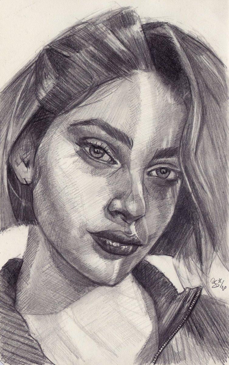 """Berry"", #graphite #portrait on #sketchbook #paper ref. by @sktchyapp #Sktchy  #art #handdrawn #handdrawnart #teamdli  #sktchyinspired #pencildrawing #graphitedrawing #artist #pencil #graphite #illustration #italianartist #drawsomethingshowcase #united_artists_art_pic.twitter.com/nvsgW7LK2i"