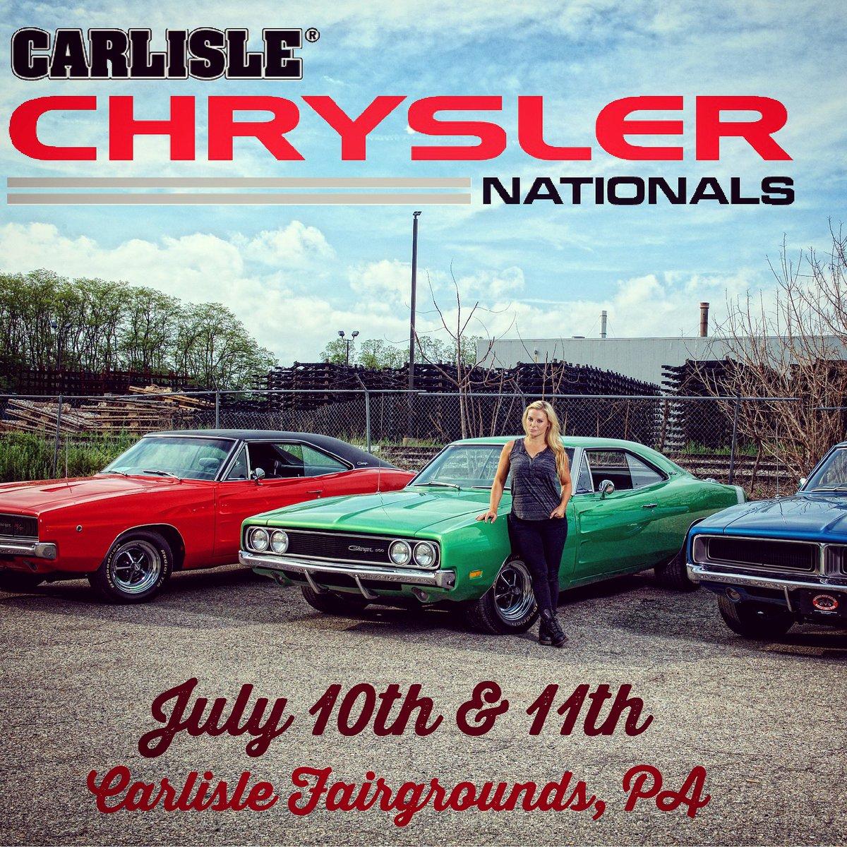 Headed to #CarlisleChryslerNationals tomorrow & Saturday - see ya there!!! 👋 #mopar #chryslernats https://t.co/MbvXhaRNPj