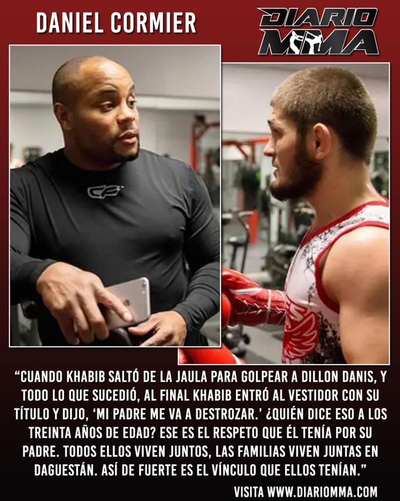 Daniel Cormier habla sobre el incierto futuro de Khabib en la jaula y el estrecho lazo que lo unía a su padre. #DanielCormier #Cormier #DC #Khabib #UFC #MMA #DiarioMMA La nota completa en https://t.co/GdRoYWlfhi https://t.co/QtquZAVmJt