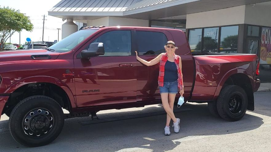 Congrats to Sandra Ward on her purchase of her #Ram3500 Mega Cab from Rhette and Christian! Welcome to the San Marcos CDJR family!  Rhette Robinson pic.twitter.com/5uR7z7pkR8