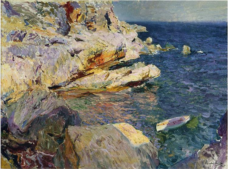 "Moltes gràcies Albert!  #ArtLovers #ArteYArt   ""Rocks and white boat, Javea"" Joaquín Sorolla (1905) Private collection pic.twitter.com/trltVcgMEp"