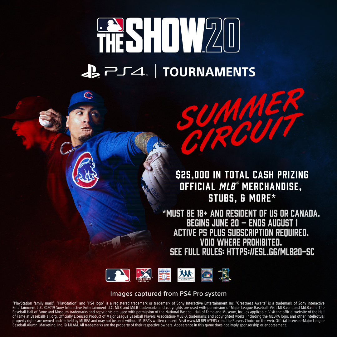 🏆MLB The Show 20 Summer Circuit🏆 You can still signup: theshow.gg/Summer Qualifier 3 is THIS WEEKEND! 🤑$25,000 in Cash Prizes +Digital Rewards & MLB Merch Packages Are You In? #MLBTheShowSummerCircuit #MLBTheShow #MLBTheShow20