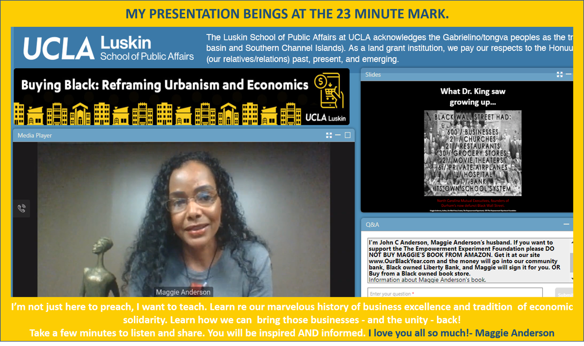 B4 #BlackOutTuesday, I spoke at @UCLA event re my year of buying Black ONLY (http://www.OurBlackYear.com), why I did it, what I learned, what we can all do 2 bring businesses & safe prosperous neighborhoods back. THIS MOVEMENT IS MY LIFE & I LOVE U! Watch now! http://bit.ly/UCLABuyBlackpic.twitter.com/MSBTWeFtYA