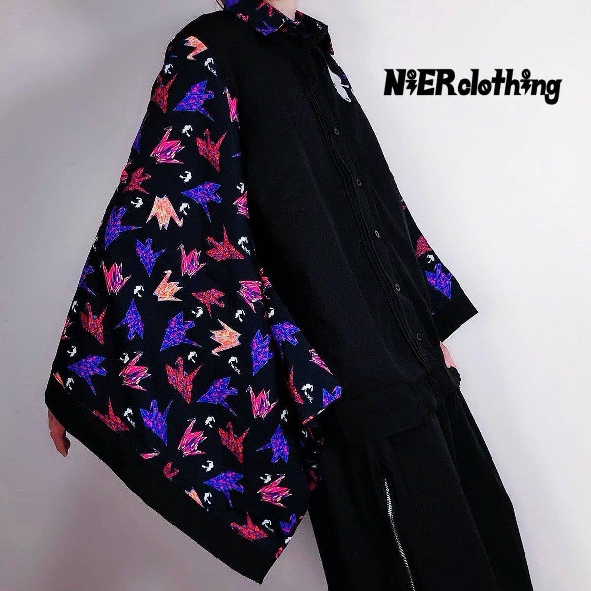 🚫新作案内🚫本日お昼12時より🐰着物風袖ブロッキングシャツ【色鶴】1つ1つ絵柄の配置が異なる一点モノ☆お祭りや花火などのイベント時にも合うアイテムです。ユニセックスアイテムです。是非この機会にゲットしてください🐰詳細はこちらから
