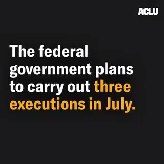 Image for the Tweet beginning: 🗣️ THREE federal executions are