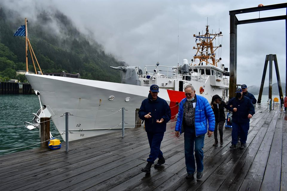 It was my great honor to join Rear Admiral Matthew Bell aboard the USCGC Bailey Barco today in Juneau. I have been a long-time advocate of homeporting Fast Response Cutters (FRCs) like the Bailey Barco in Alaska. https://t.co/gzjxfArOPO