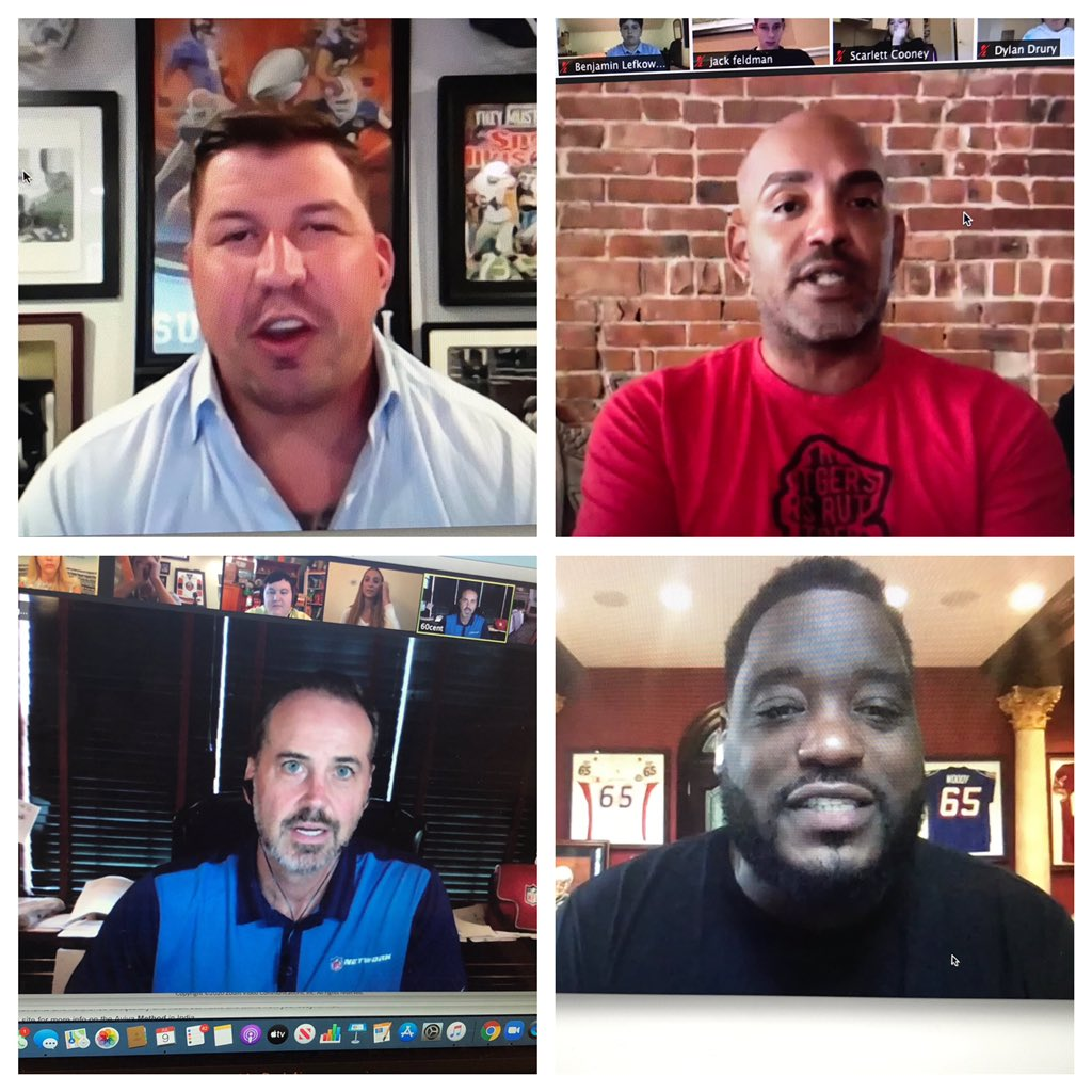 We had a marvelous group of former football players and current broadcasters, who were interviewed today by our kids at our Virtual @brucebeckcamp ! Many thanks to @davediehl66 @ShaunOHara60 @RayLucas06 @damienwoody ! You guys crushed it! Our campers were so lucky! @LSDeford https://t.co/tjI2x56OyG
