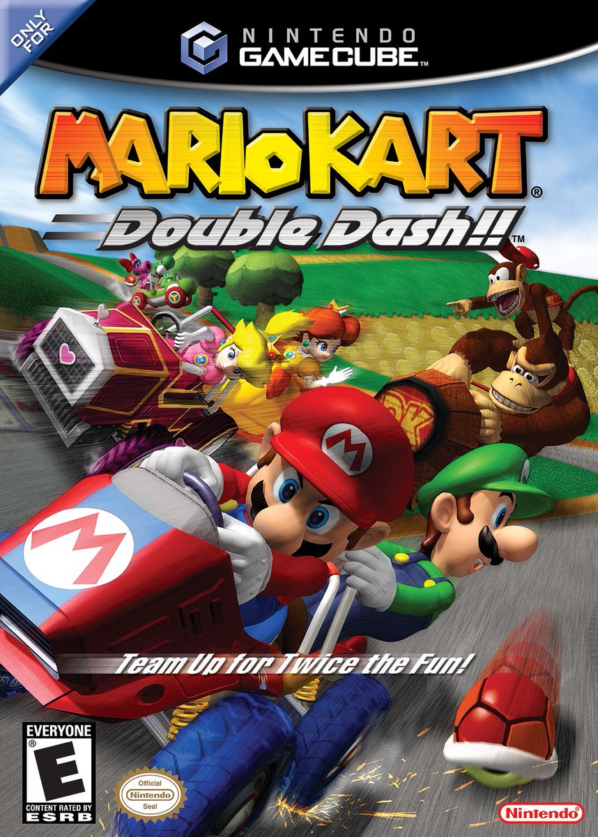 I just bought Mario Kart Double Dash!! I cannot begin to describe how happy I am.