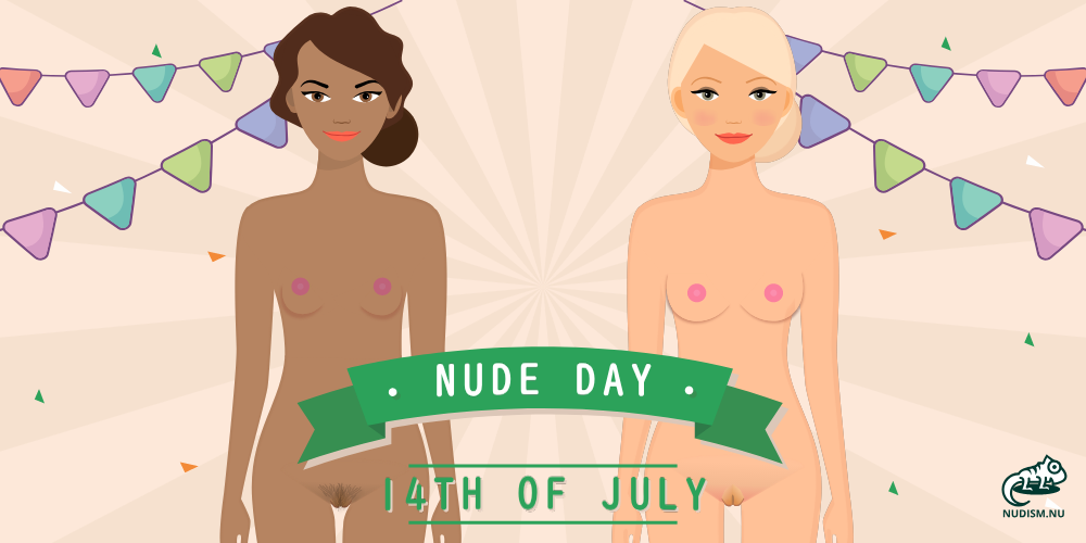 "Yay, what a great day. July 14 is the National Nude Day! It's time to get naked by going ""au naturel"" today. #nude #naked #nudist #naturist #party #event #picnic #hikingadventures #sports #NationalNudeDay #NudeDay  https://t.co/Z0QO6sOUri https://t.co/xyHO2UTHdk"