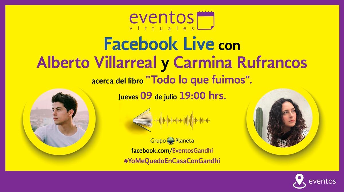 """¡Estamos en vivo! Únete a la presentación de """"Todo lo que fuimos"""", con @AlbertoVill y Carmina Rufrancos > https://www.facebook.com/planetadelibrosmx/videos/2672867809627758…  #creemosenloslibros #KeepReadingEnCasa pic.twitter.com/doLNTryJZh"""