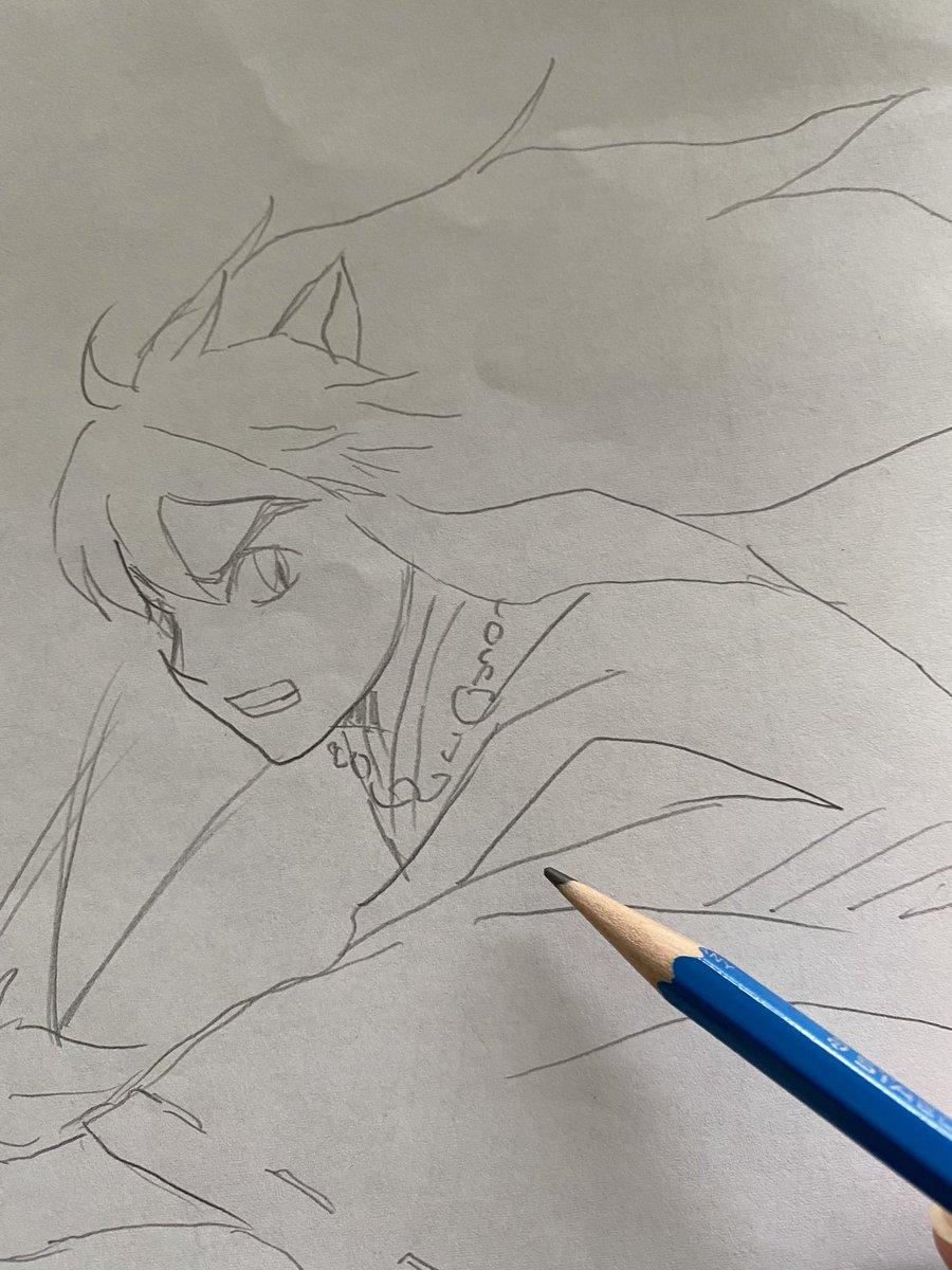 朝の3分お絵描きタイム。るーみっくむず!!シンプルゆえに難しい。高橋先生すみません。。今日はまだ修羅場なので引き続き頑張ります。おはようございます。