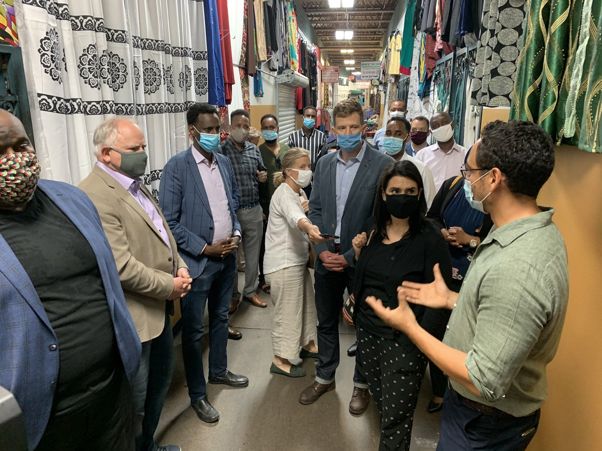 Cultural malls aren't just businesses. They're gathering spaces and community hubs that bring vibrancy to our neighborhoods. Proud to visit the Village Market today to highlight funding available to support cultural malls as they navigate the impacts of COVID-19. #MNStrong https://t.co/mNOSxaazBx