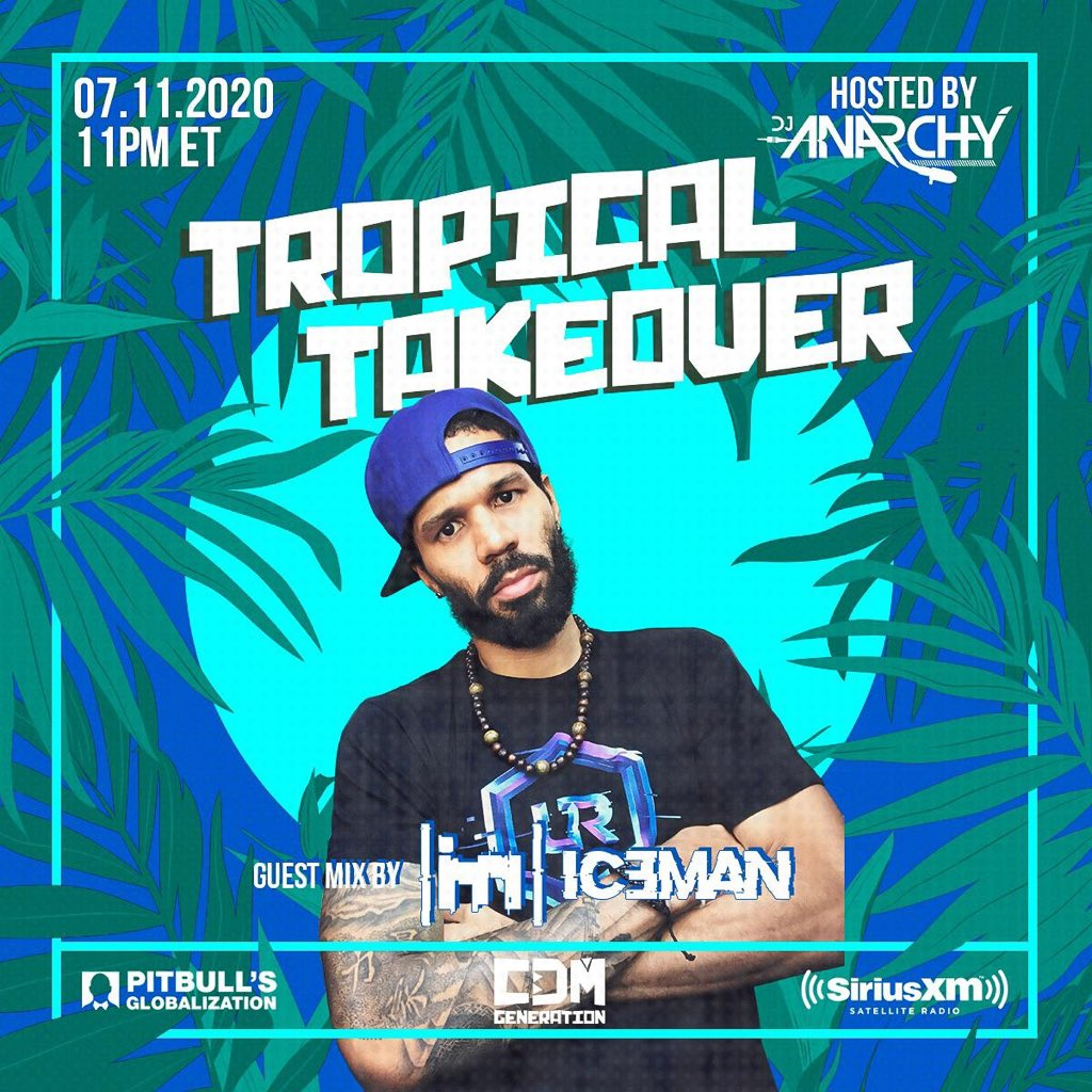 I'll be dropping a guest mix Saturday night on the 🌴TROPICAL TAKEOVER🌴 show on@pitbullGlobalization @SIRIUSXMChannel 13 at 11pm ET/ 10pm CT. ⛓  Big up to the host of 'TROPICAL TAKEOVER' @DjAnarchyRMX and also to @cdmgeneration   #tropicaltakeover #pitbull #siriusxm https://t.co/75OmWapCSU