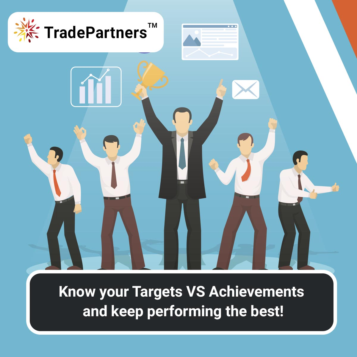 Your team will always perform the best with the TradePartners™! Download the app now @ https://t.co/Ue8nbOBFJ5 Reach Us @ https://t.co/YHMrN6Bw5N  #Sales #ASM #TGT #achievement #TargetVsAchievements #salesexecutive #target #salestarget #technology #salestechnology #business https://t.co/TDE0cY4MaJ