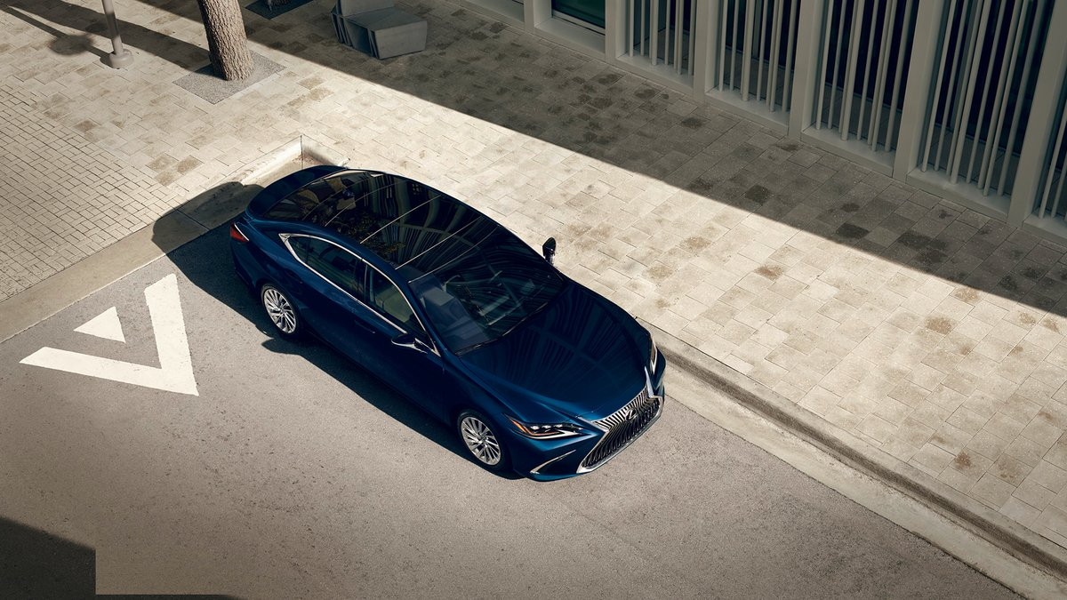 Blue doesnt do it justice. Nightfall Mica is just one of the stunning finishes available on the #LexusES. lexus.us/37sT05s