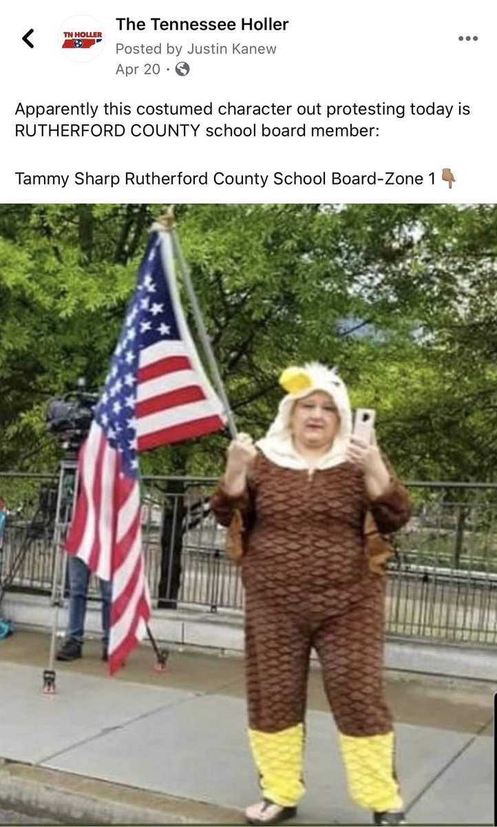 """FLASHBACK: This was @RutherfordCo @rucoschools School Board Member Zone 1 Tammy Sharp at a """"reopen TN"""" protest   So sending our kids back to school in person with no mask mandate should come as no surprise. https://t.co/6EkiW1UX7N"""