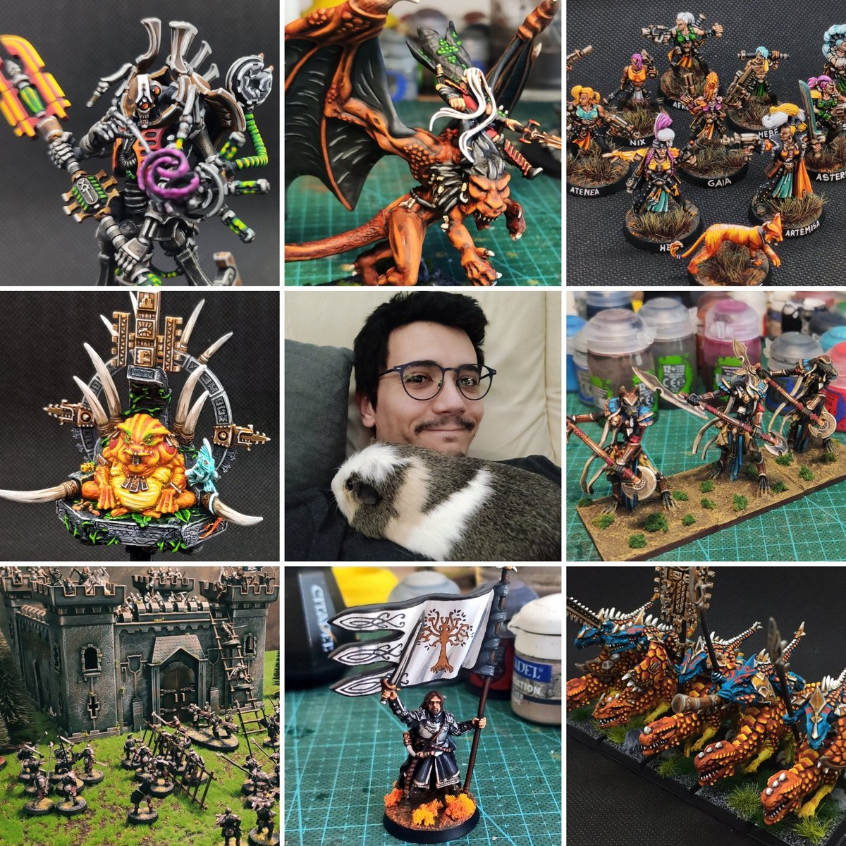 Glad to see your faces so here's mine with my fluffy babe  #Warmongers #PaintingWarhammmer #facesbehindthehobby https://t.co/EN21zGQpC8