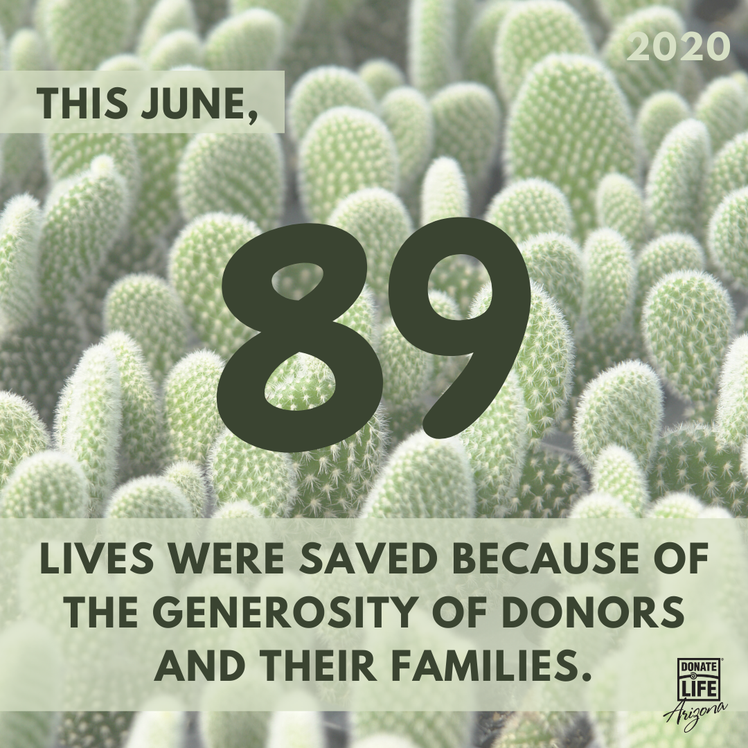 """Saying """"yes"""" to the gift of life is the first step to making an incredible difference in the world.  Make sure you're registered at http://www.DonateLifeAZ.org, and talk to your family about your donation decision. #donatelife #lifesaving #organdonation #transplantrecipient pic.twitter.com/diRpmvtUkI"""