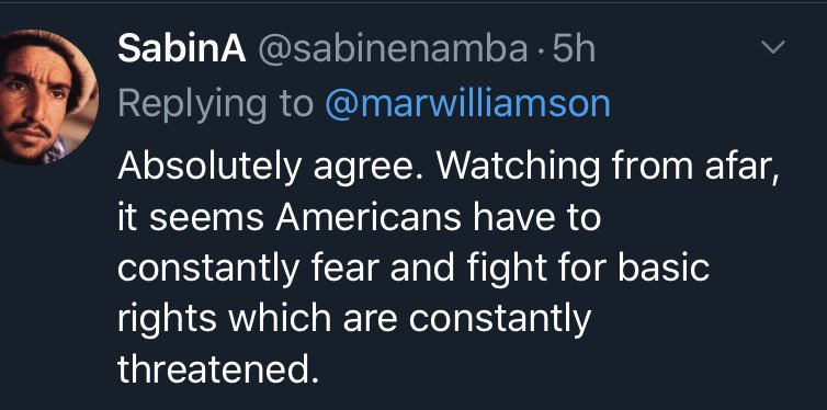.@marwilliamson  People all over the world cannot believe we allowed all this to happen...