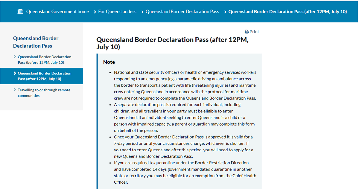 """What's New """"Queensland Border Declaration Pass"""" Tweet Per ..."""