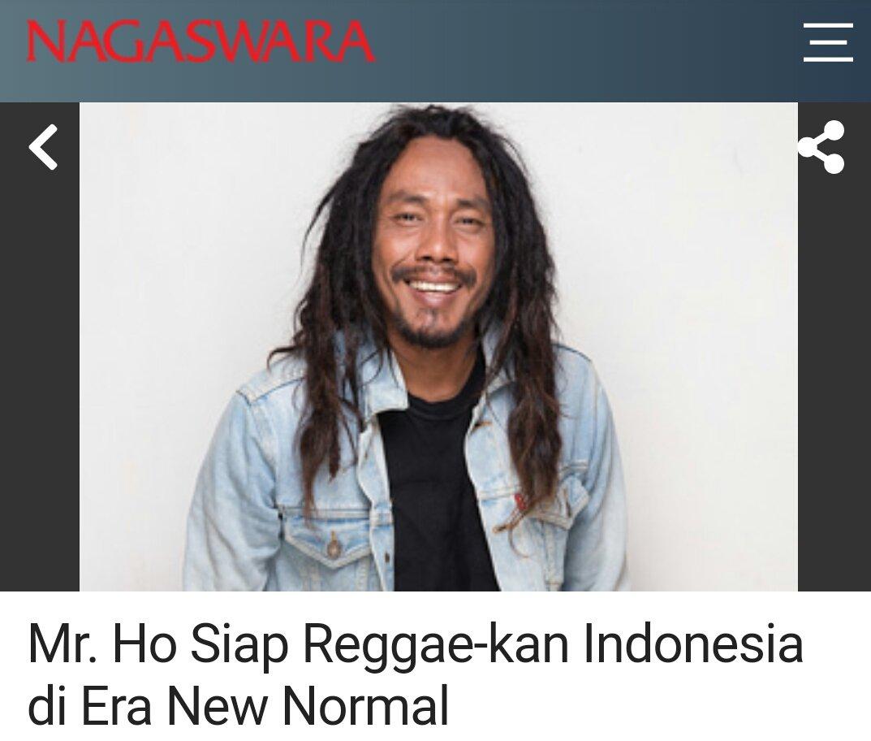 Mr. Ho Siap Reggae-kan Indonesia di Era New Normal - Berita #Nagaswara https://t.co/u5hzxmuNkt  👥 @BoisAhmad @andreedahlan1 https://t.co/ZHczBfyPD7