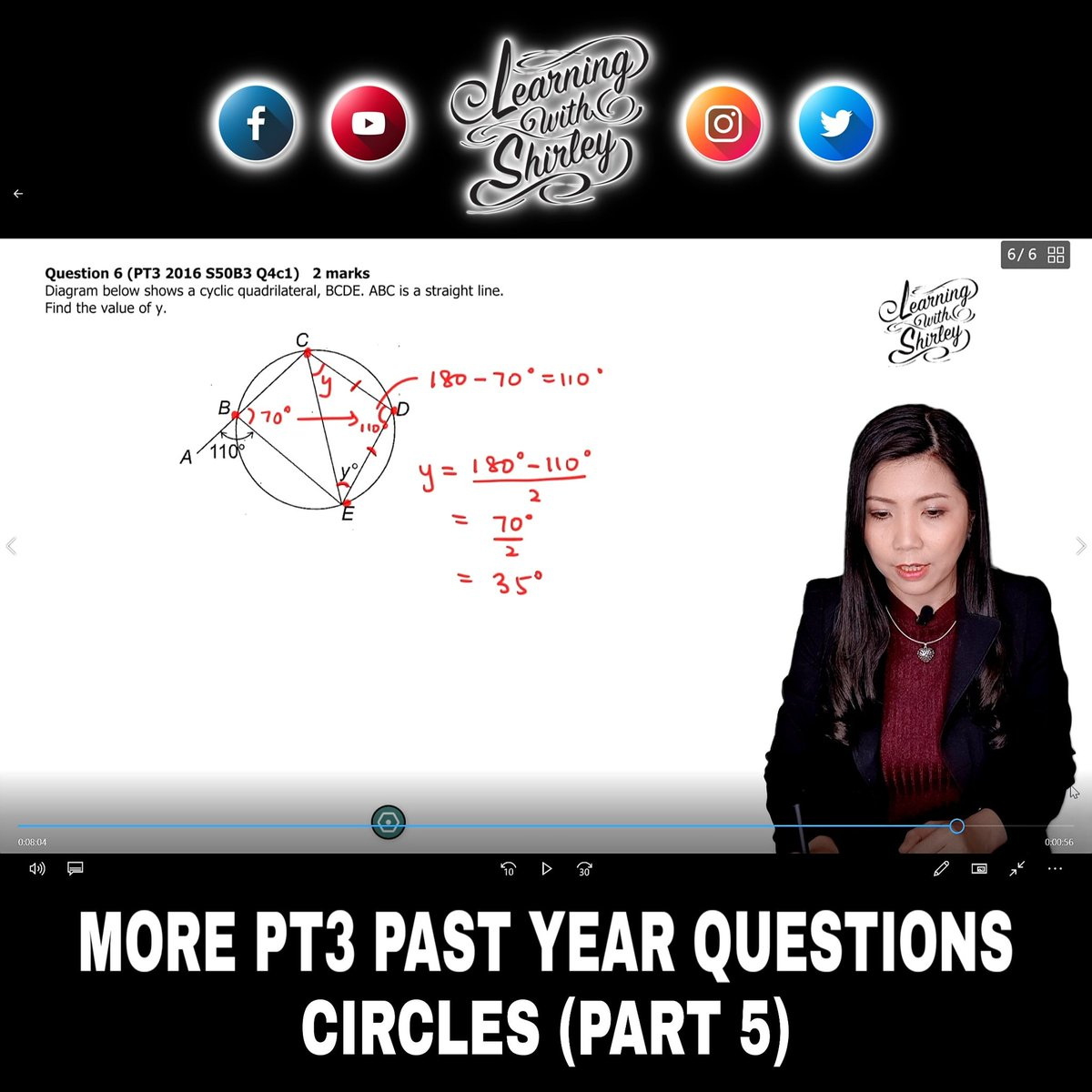 Sneak preview on my latest video coming up TODAY at 4.00pm   SUBSCRIBE to my YouTube channel: http://www.youtube.com/c/learningwithshirley…  #youtube #PT3 #pastyear #circles #studygram #studynotes #studymotivation #math #exam #exams #studymood #education #learning #learningwithshirleypic.twitter.com/WVtnMNcf81