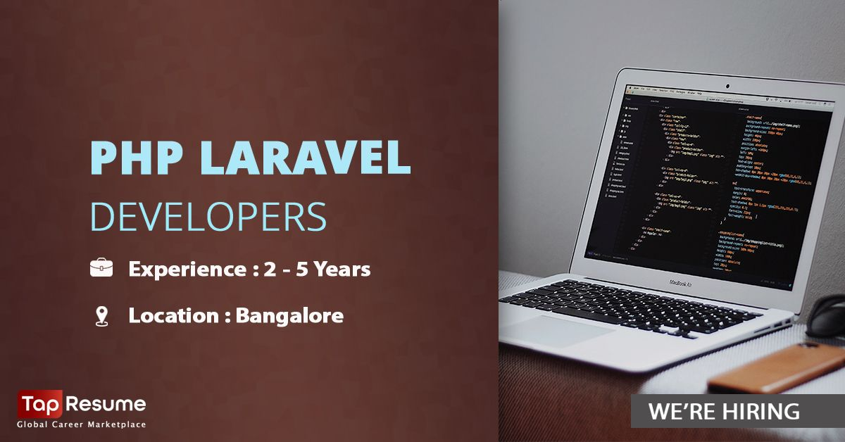 Hiring #PHP Laravel Developers for one of our premium technology partners. We need applications from candidates with 2 - 5 years of hands-on experience to operate from #Bengaluru location. You can view detailed job description at the given link - https://buff.ly/3iQRild  #jobspic.twitter.com/3vKQYa7kIY