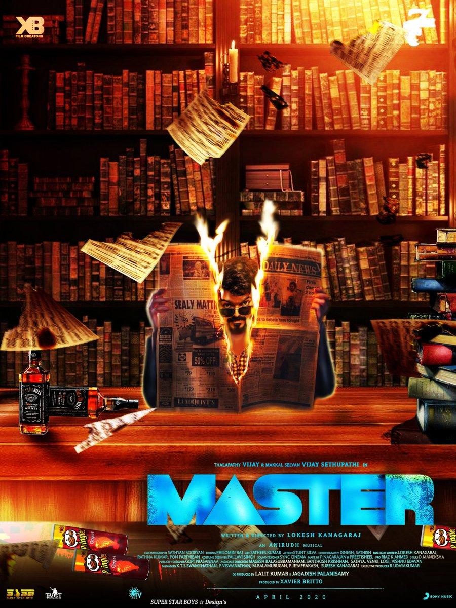 RT @MasterTeamOffi: Fan made work #Masrer  @actorvijay   Design by @SUPERSTAR_BOYS https://t.co/6rgD8TPKPa