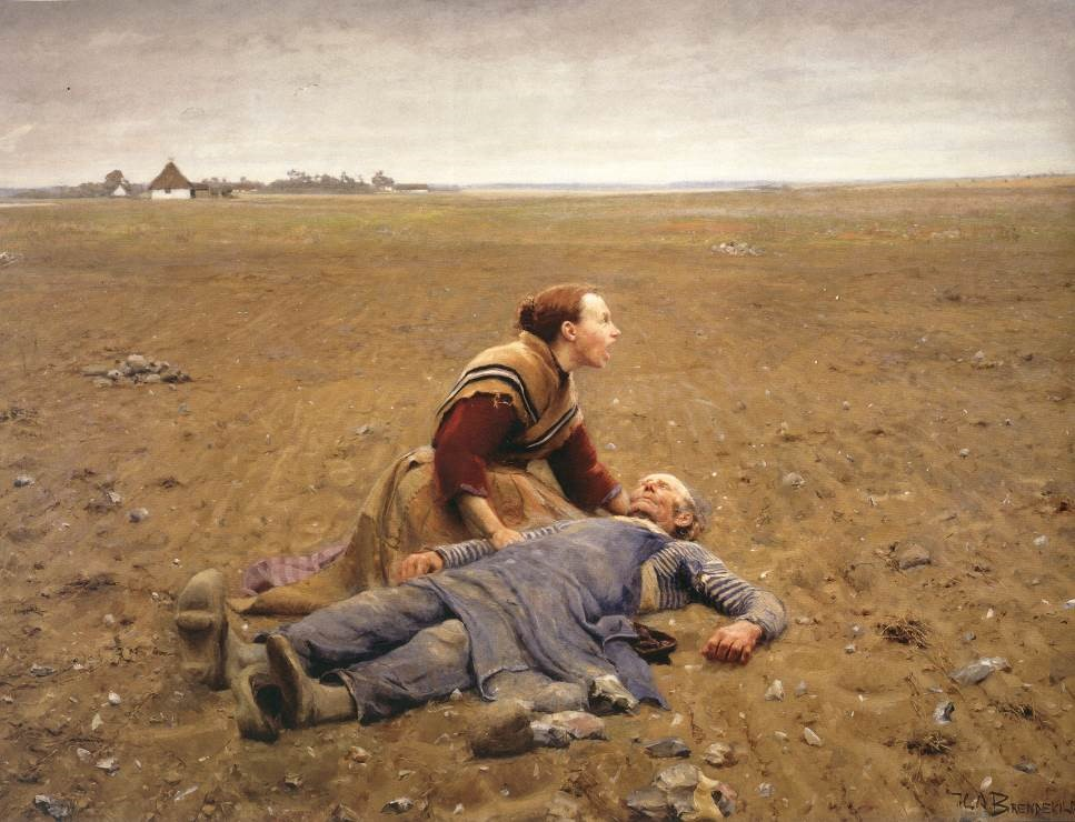 Desperation and despair of the rural peasantry is graphically depicted in Danish social realist artist Hans Andersen Brendekilde's 'Worn Out' (1889) https://t.co/fFH7XcHZ5L