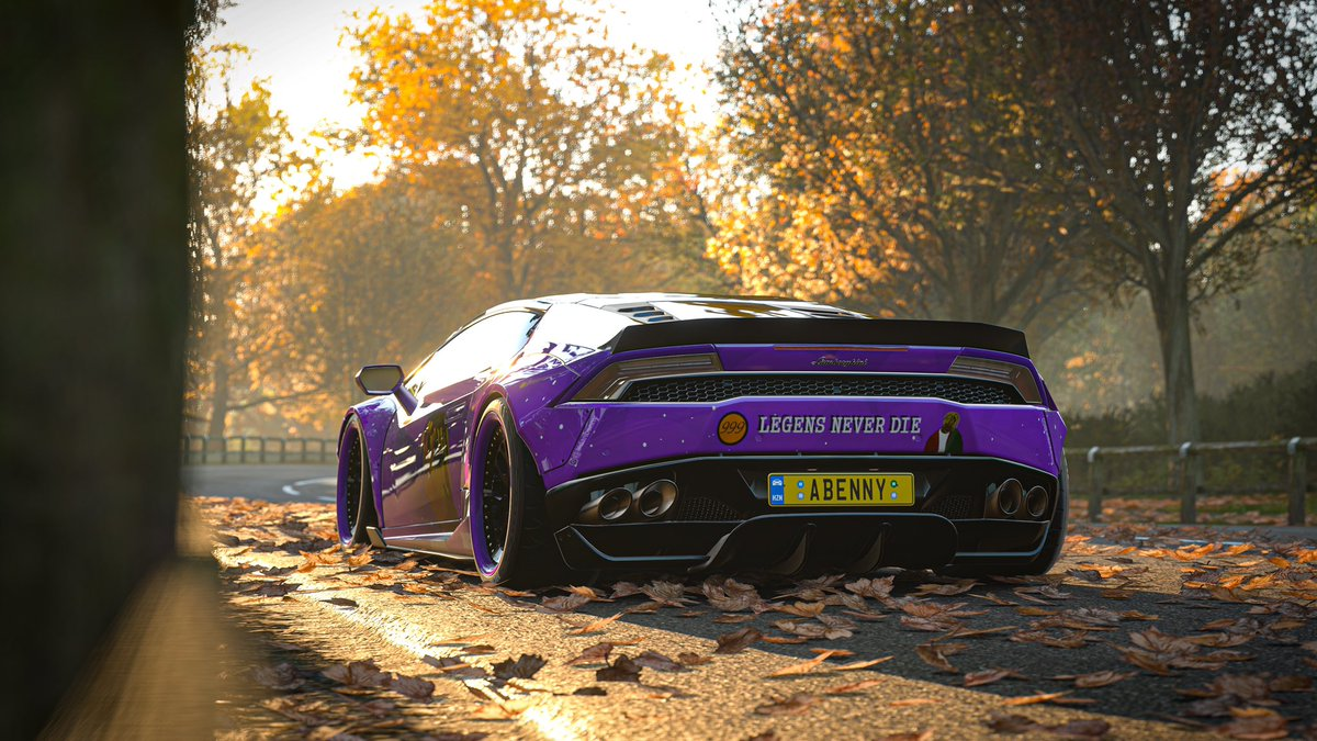 Made this paint to honour the person that brung my life around from ending it all @JuiceWorlddd 🖤999🖤   I did fix the misspelling on the back  @999FamiIy #forza #ForzaHorizon4 #juicewrld #lljw #Lamborghini #hurican #999Forever #LND #legend https://t.co/RhD2B7hYOp