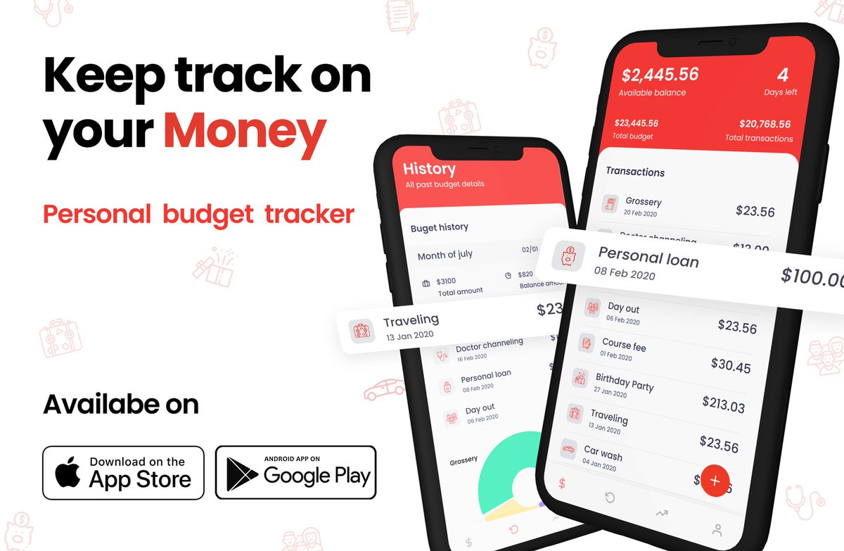 Personal Budget tracker  Download now: https://apple.co/2OblTfk  Available on AppStore & PlayStore #savemoney #finance #moneypic.twitter.com/k169svk7Uj