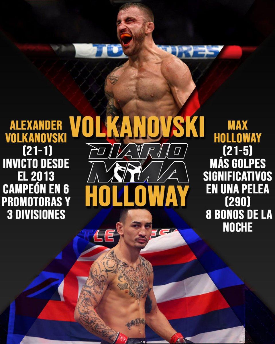La pelea co estelar de este sábado será la revancha por el título pluma entre Alexander Volkanovski y Max Holloway. ¿Se repetirá la historia de la primera pelea? #UFC251 #FightIsland #Volkanovski #Holloway #UFC #MMA #DiarioMMA https://t.co/tjOAUEXtM6