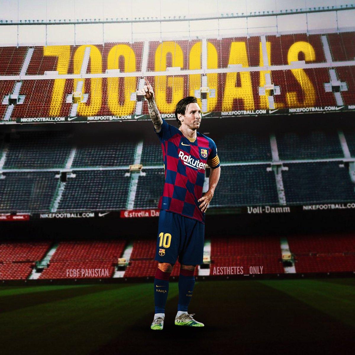 Messi - Milestone Goals:  001 vs Albacete (2005) 100 vs Dinamo Kiev (2009) 200 vs Real Madrid (2011) 300 vs Rayo (2012) 400 vs Granada (2014) 500 vs Valencia (2016) 600 vs Atletico (2018) 700 vs Atletico (2020)  #Messi700  via @MessiStats_ https://t.co/aoB53Gupd1