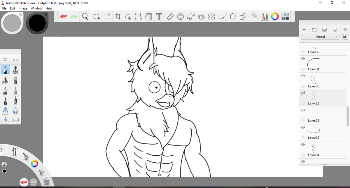 Posting this on main cuz im lazy how to switch to my art acc but yeah, he buff and fluffy. (I need to get good at buff drawing tho) #WIP #Furry https://t.co/Gz8TqdrtfF