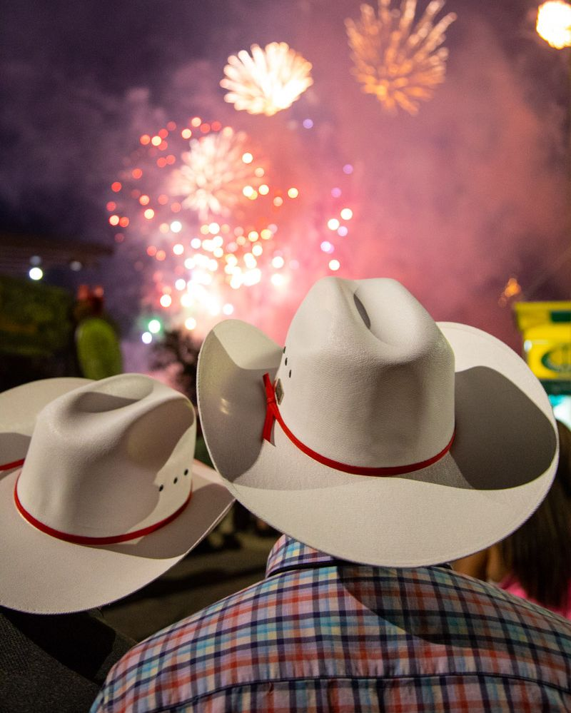 The @Bell Fireworks Spectacular caps off #Stampede2020 at 11 p.m. this Sunday.    Don't forget, you can watch the live broadcast and stream on @CTVCalgary, or tune in to hear the soundtrack created for the show on FUNNY 1060 AM. Let's celebrate community spirit! https://t.co/Au51n2v5Cy