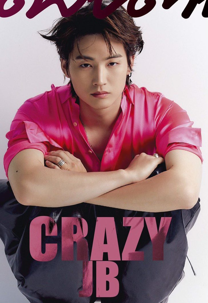 Jaebeom serving in hot pink aaaaaaa <br>http://pic.twitter.com/j6vo7lETPq