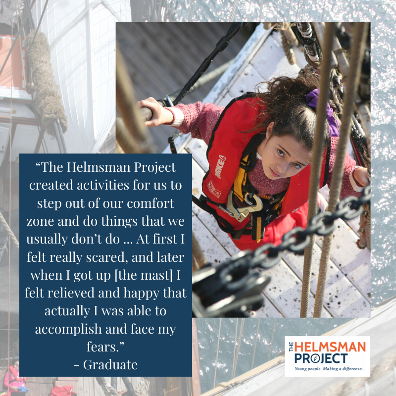 #accomplishment #achievement #challengeaccepted #comfortzone #pushyourself #courage #scary #brave #overcomefear #confidencebuilding #activity #outdooreducation #sailing #climbing #goal #thehelmsmanproject #HelmsmanGraduate #HelmsmanResilience https://t.co/N1cyLNULVA