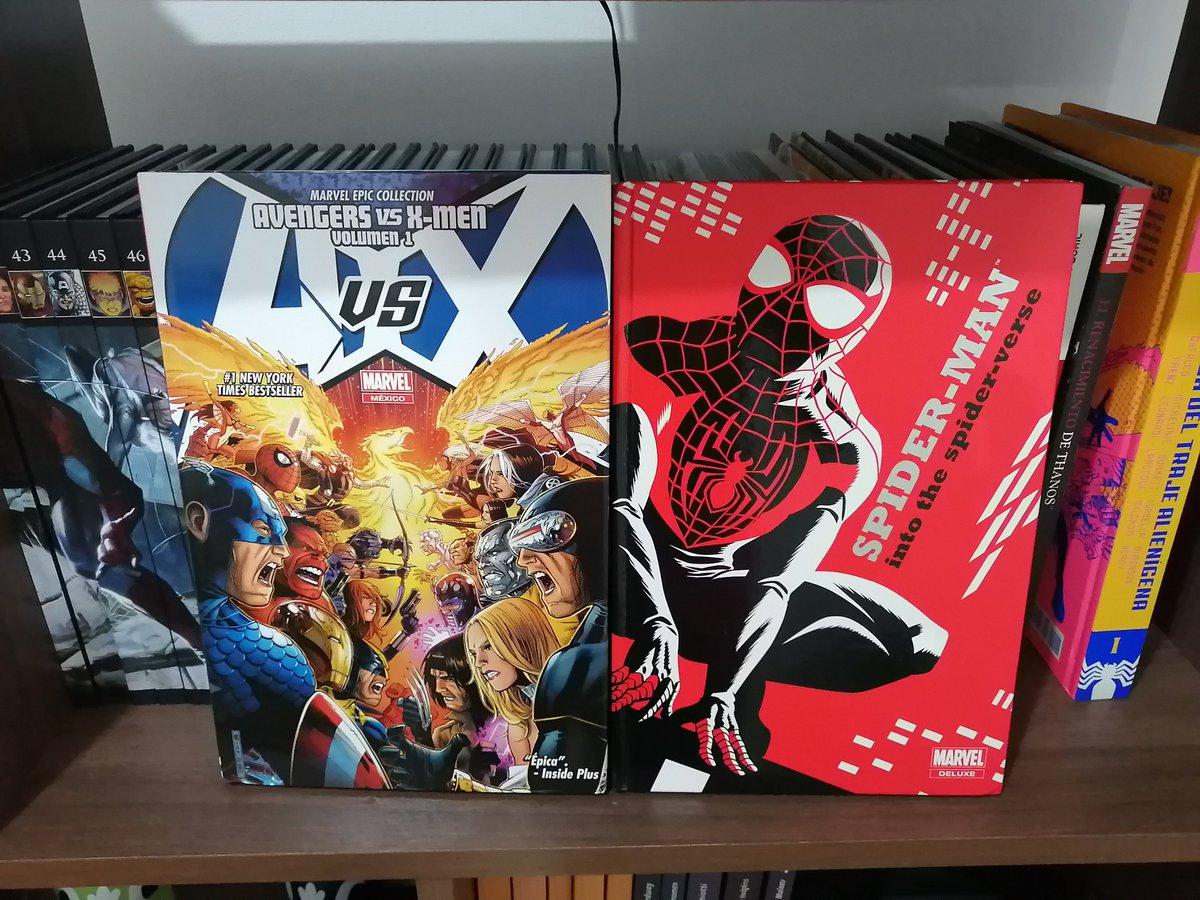 Últimas adquisiciones Spiderman Into the Spider-Verse y AvsX Vol 1   Gracias a @comicquestcol   #Marvel #Comics #Spiderman #Avengers https://t.co/Hx4CpF9xYe