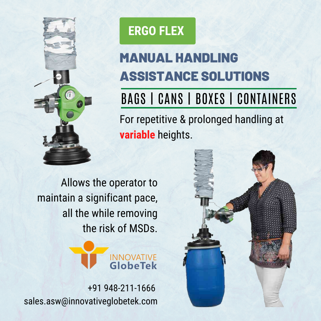 #ERGOFLEX - A new range of #LiftingSolutions for light loads! Ideal for food processing, industrial, chemical pharma, logistics, spirits, and wines sectors.  Visit our website http://www.innovativeglobetek.com for more info.  #Lifting #InnovativeGlobetek #MovingSystems #ManualHandling pic.twitter.com/g2BEYBqCFp
