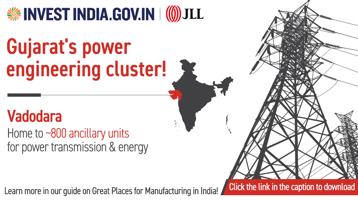 #AdvantageIndia  Industrial expansion, business-friendly environment and focus on renewable power are majorly driving growth in the number of #powertransmission & energy firms in #Vadodara, Gujarat.  Learn more at: https://t.co/JwYId7zZgl  #MakeInIndia #InvestIndia @makeinindia https://t.co/8XwMYR4LNm