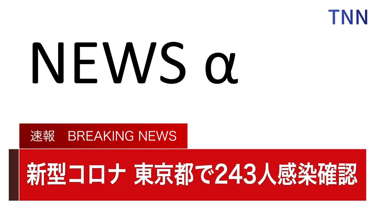 ■ TNN NEWS 速報 ■東京都の関係者によりますと10日、都内で新たに243人が新型コロナに感染したことを確認したということです。今日までの都内の累計感染者数は7515人となりました。都内で1日の新規感染者数が200人を超えるのは2日連続で過去最多となります。