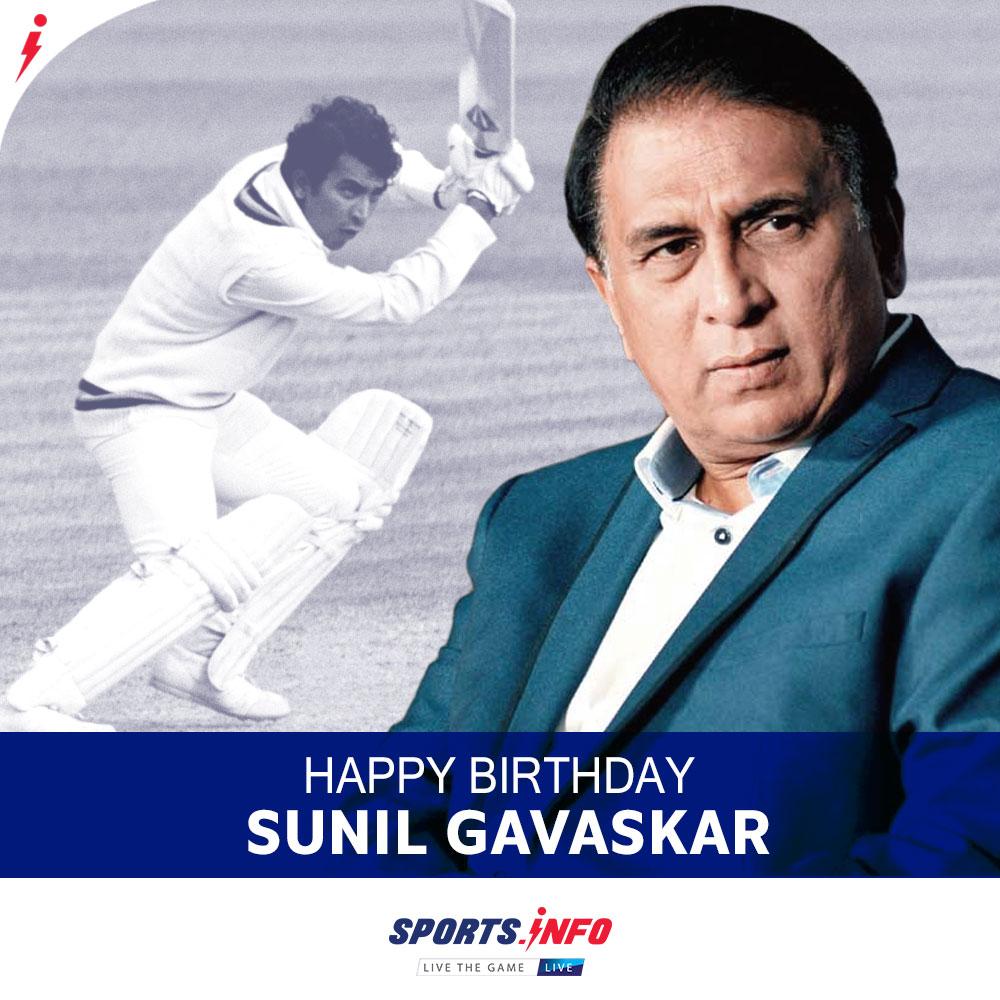 #HappyBirthday to Sunil Gavaskar.   1st batsman to score  runs.   1st Indian cricketer to carry his bat in Test cricket.  . . . #SunilGavaskar #TeamIndia #Record #Testmatch #SportsDotInfo <br>http://pic.twitter.com/pcBKCLmSTo