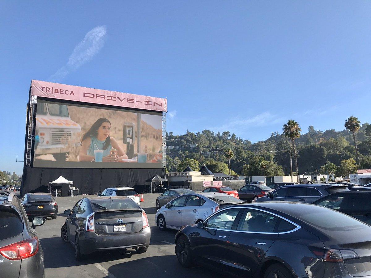 Digital La Tribeca Drive In Host Movies Comedians Blue Carpet Arrivals
