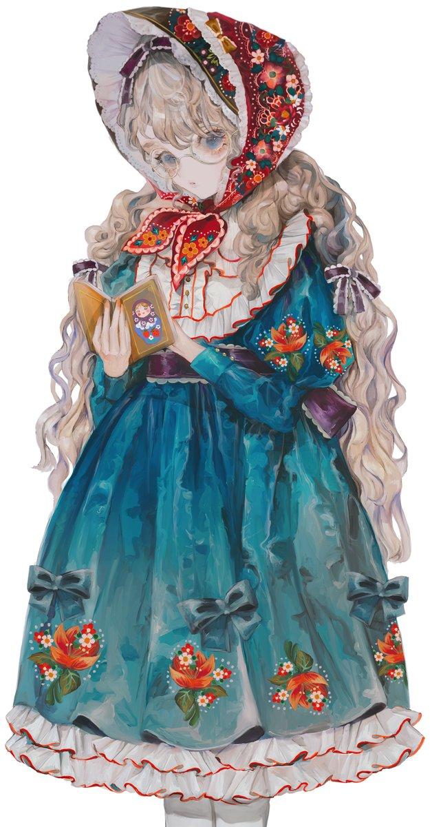 SB Creative様からのご依頼で『配色アイデア手帖 世界を彩る色と文化』という本から配色テーマ「マトリョーシカ」で塗ってみました。東欧の民芸品のようなかわいい配色で、油彩風の塗りにもマッチして楽しかったです。