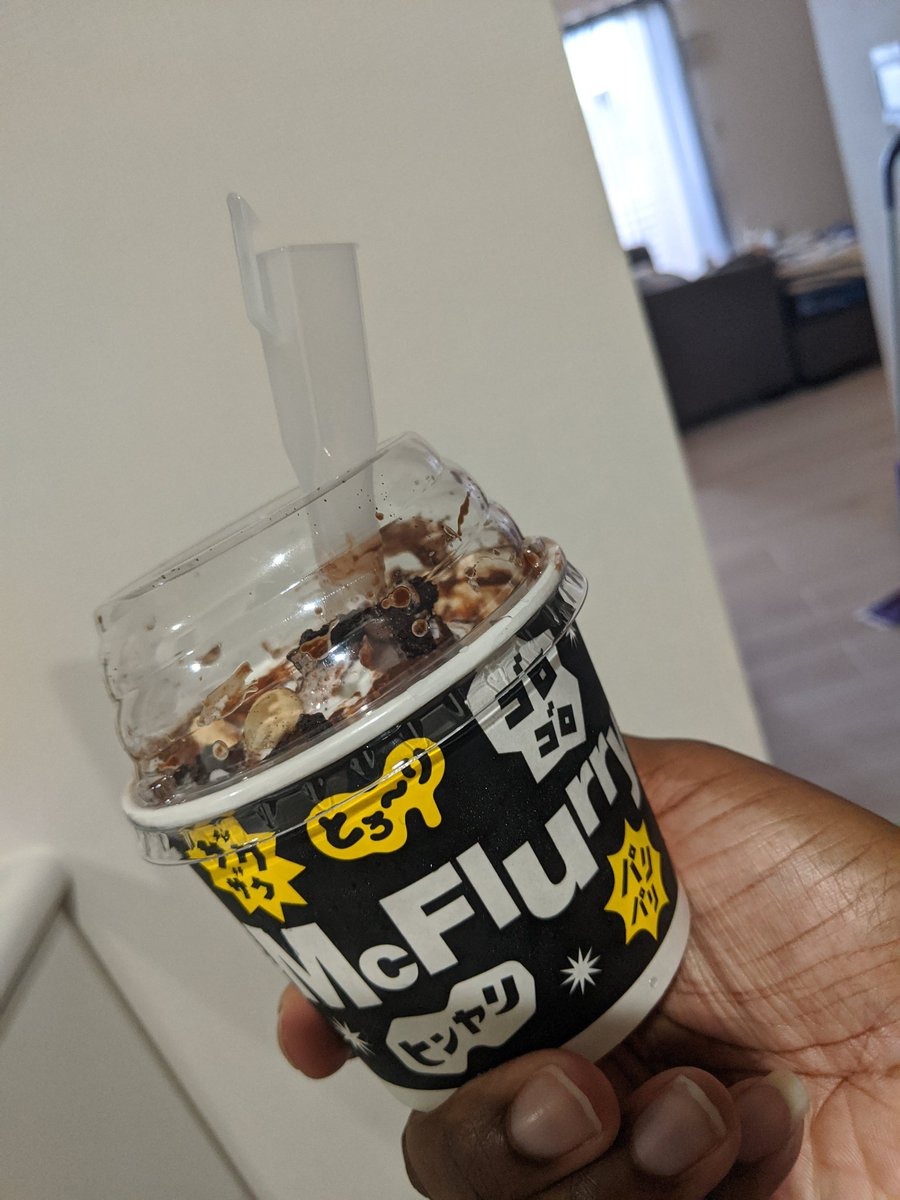I've never had a #mcflurry in my life. That changed today. It's a #blackthunder mcflurry @McDonaldsJapan