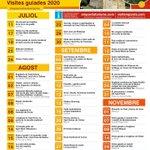 Image for the Tweet beginning: Llista de les visites guiades